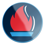 Load image into Gallery viewer, Liberty Flame Circle Sticker - Navy