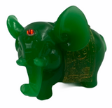 Jade Elephant w/ Gold Detail Statue 2""