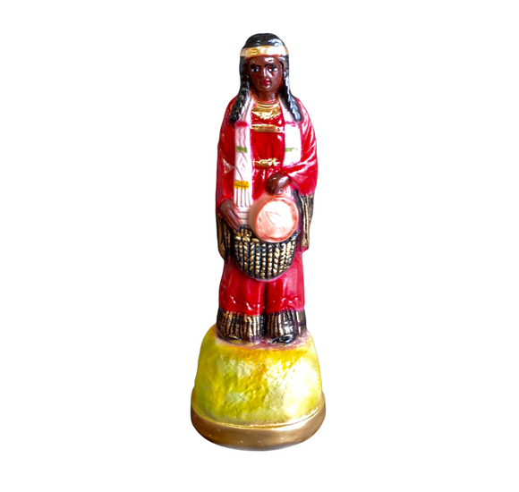 Native American Princess in Red Statue 12