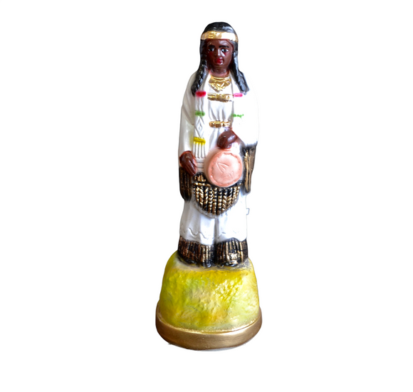 Native American Princess in White Statue 12