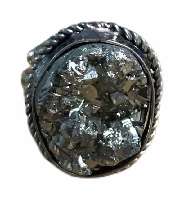 Adjustable Pyrite Ring