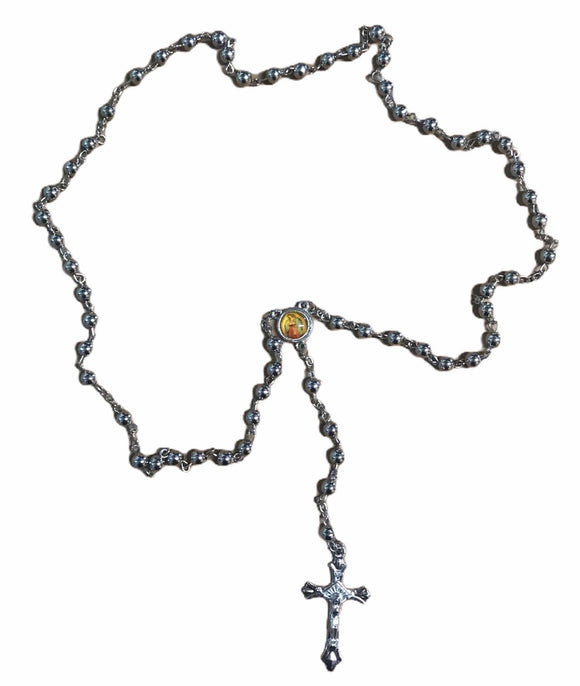 Silver Rosary w/ Guadalupe