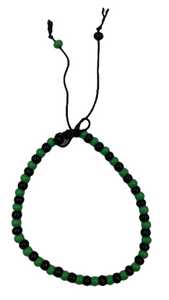 Green & Black Bead Bracelet