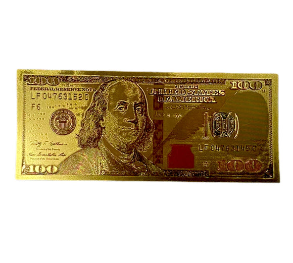 $100 Bill Golden Foil