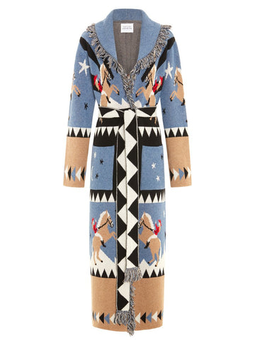 Sunrise Rodeo Merino Jacquard Long Cardigan