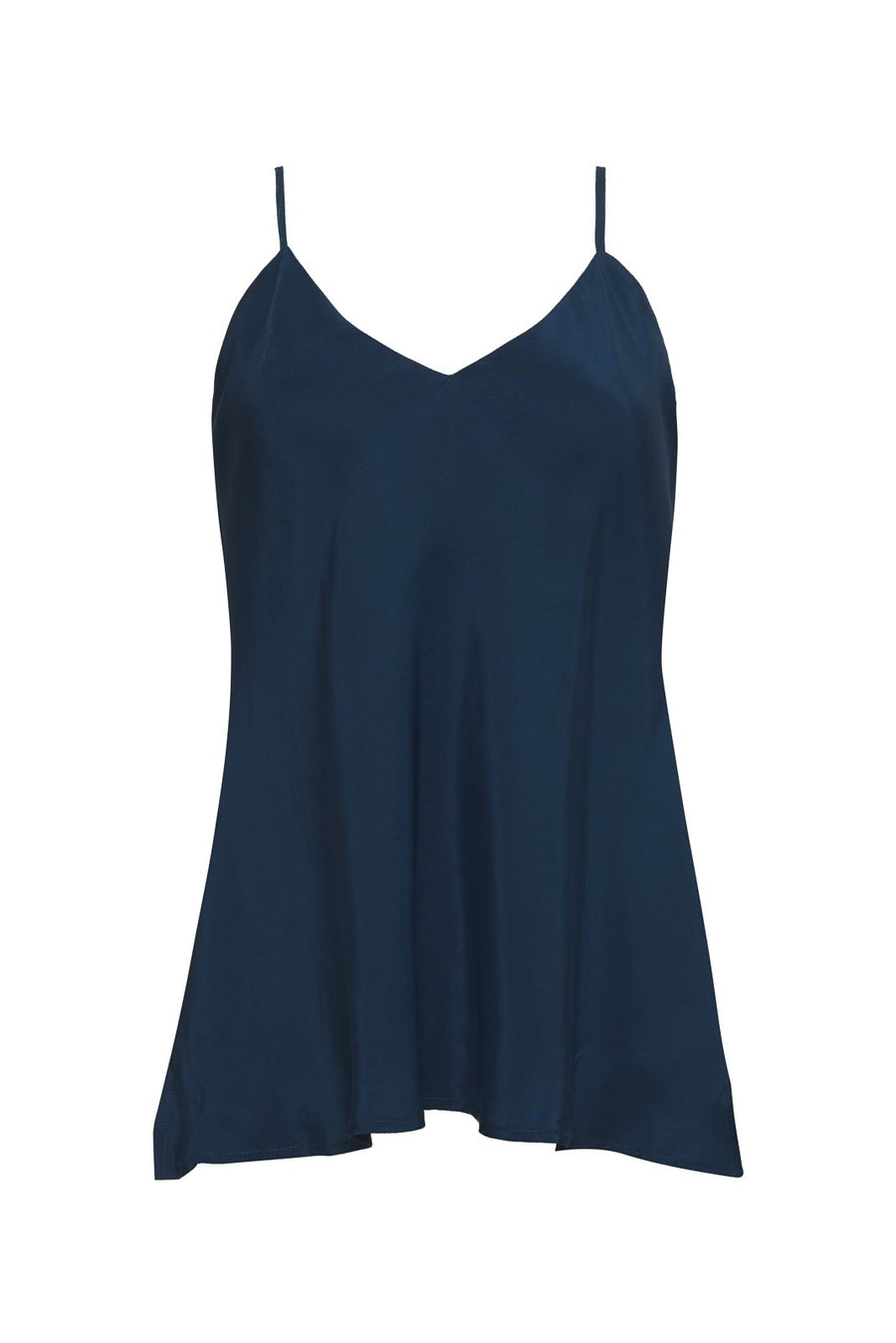 Double Silk Solid Cami // Navy