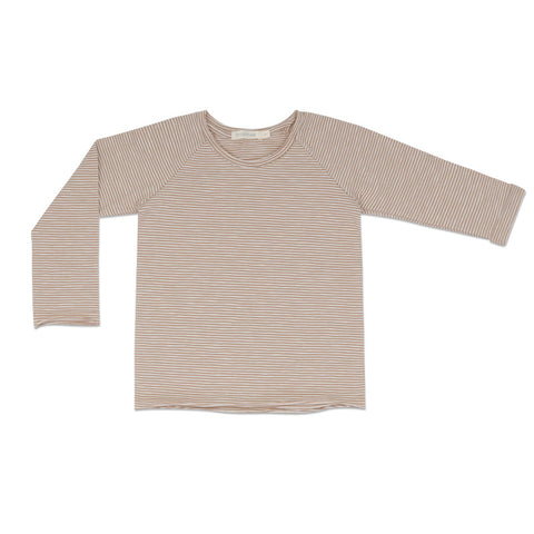 raglan tee stripes | dusty nude stripe
