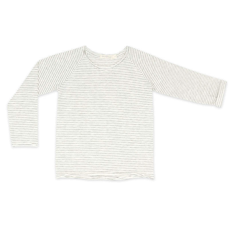 raglan tee stripes | vanilla stripes
