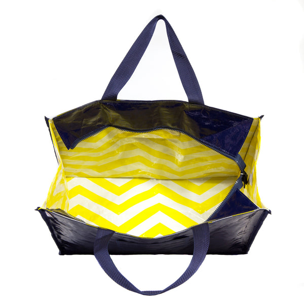 NOT SO MELLOW YELLOW ZIP TOP TOTE - 50% OFF