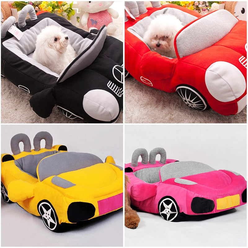 Social Media Popular-Fashionable Sports Car Shape Dog Bed