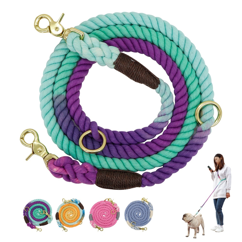 6ft Handmade Durable Nylon Dog Leash Rope