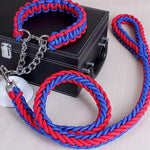 Double Strand Rope Leash  with Metal P Chain Buckle for Large Dogs