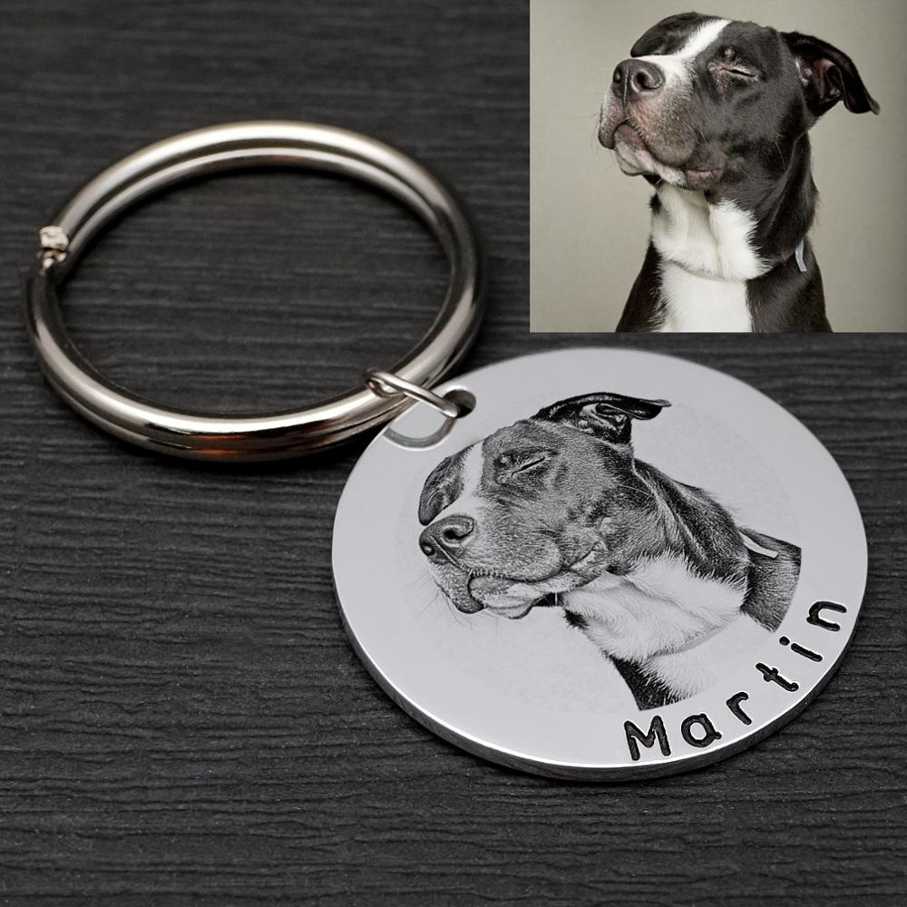 Personalized Custom Pet Tag with Photo
