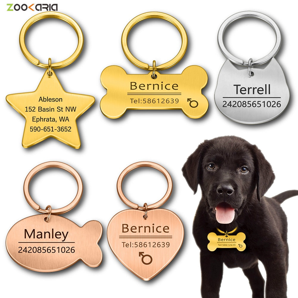 Personalized Cat Dog Pet ID Tag