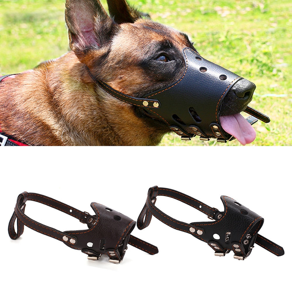 PU Leather Pet Dog Muzzle