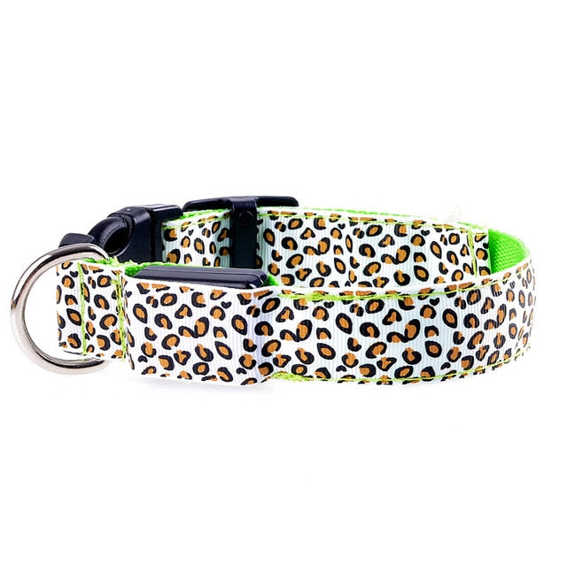 Leopard Printed LED Dog Collar