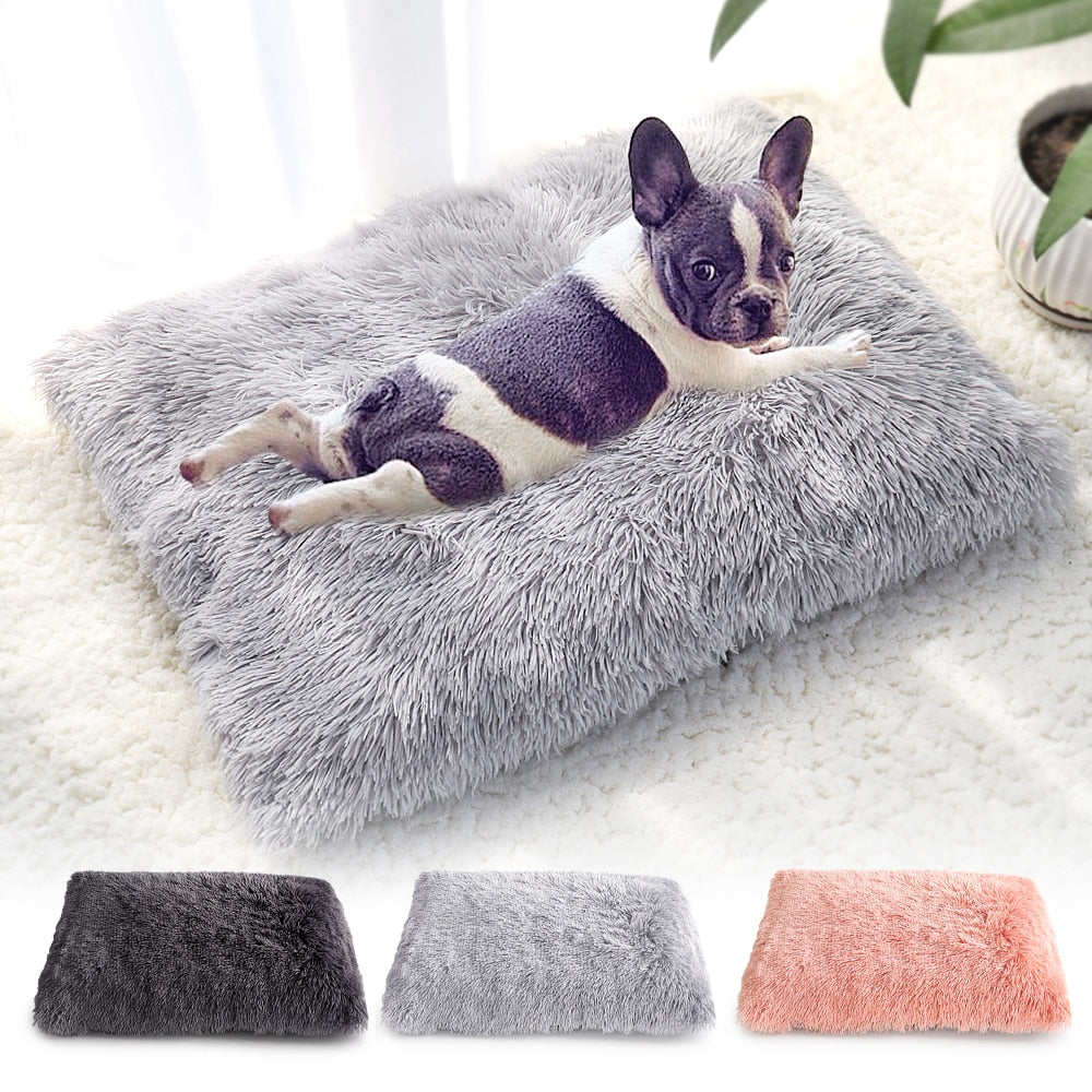 Plush Soft Fleece Flat Pet Bed
