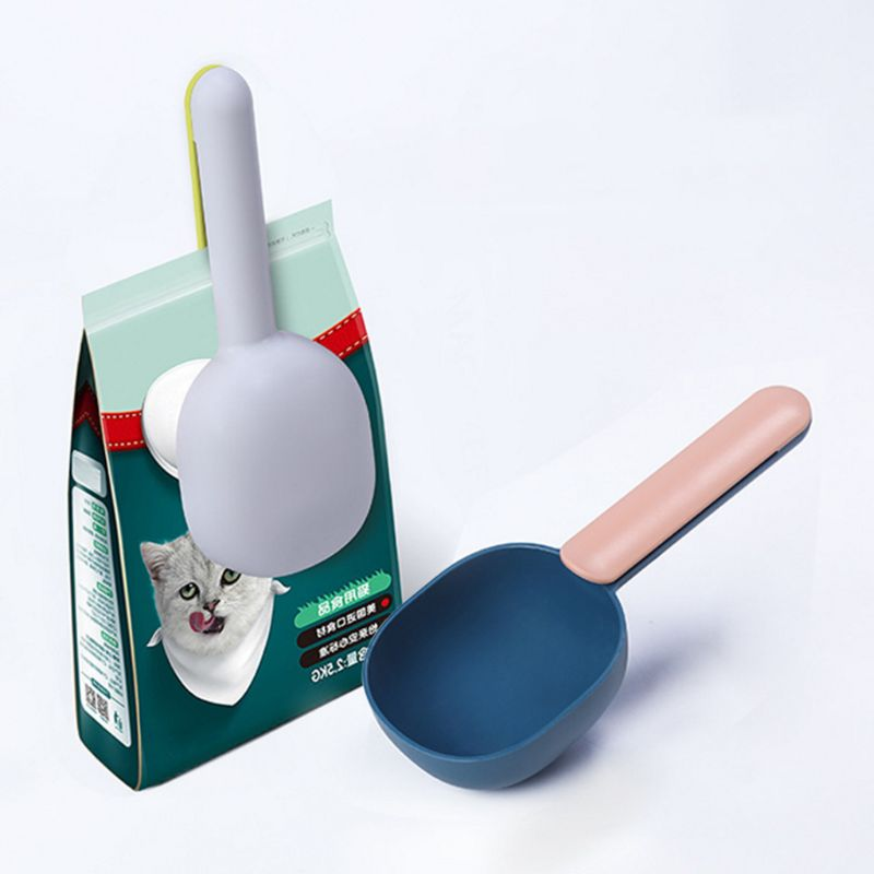 Pet Food Shovel Portion Control Feeding Spoon + Bag Clip