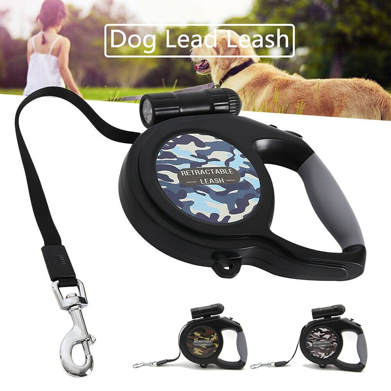 Retractable Leash with LED for Small to Large Dogs
