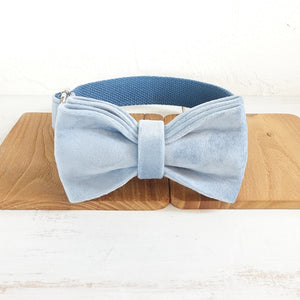 Different Colours- Thick Velvet Bow Tie Pet Collar and Leash