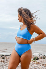 Load image into Gallery viewer, Limited Edition Cornflower Blue Luna Bikini Set - Mitra The Label