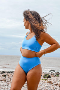 Limited Edition Cornflower Blue Luna Bikini Set - Mitra The Label
