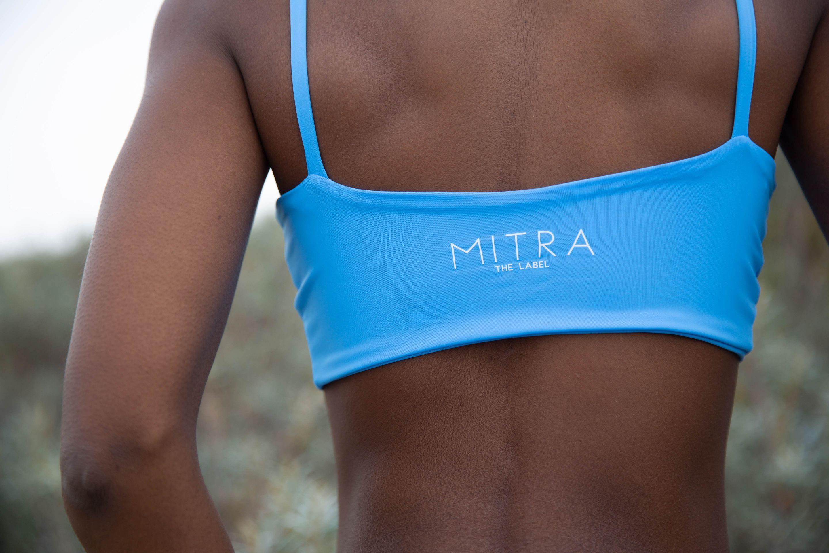 Limited Edition Cornflower Blue Aimee Tie Up Bikini Top - Mitra The Label
