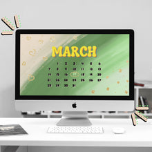Load image into Gallery viewer, March Calendar Desktop Wallpaper