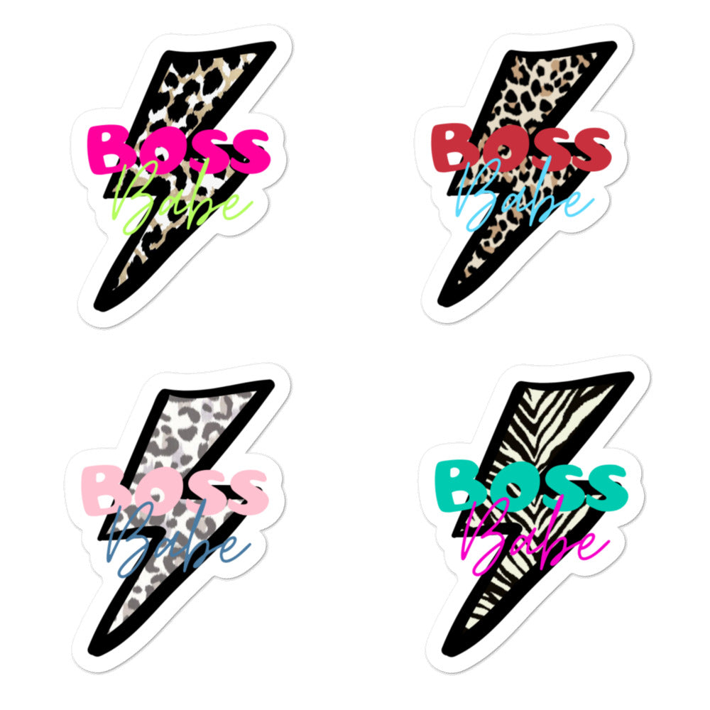 Boss Babe Animal Print Stickers | Sheet