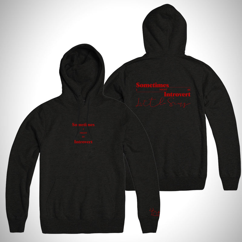 Sometimes I Might Be Introvert Album Hoodie (Black)