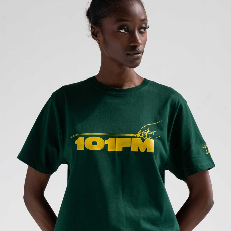 101FM Bottle Green Tee
