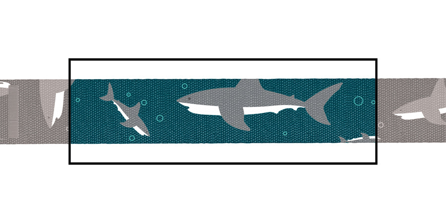 Load image into Gallery viewer, Shark Attack Combo (collar & leash)