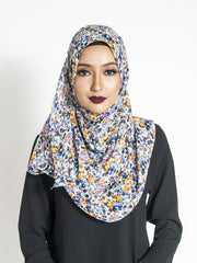 Blue Dot Printed Shawl