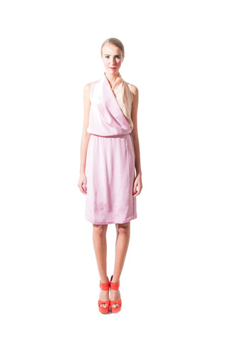Hannah's Wrap Dress - Pink and Nude
