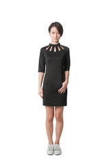 Chelsea's Fitted Dress - Black