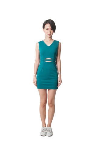 Ashley's Fitted Dress - Green