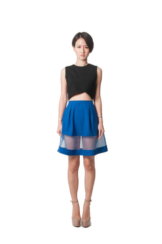 Louisa's Flared Skirt - Blue