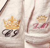 Personalized Full Ankle Length Terry Shawl Bathrobe, Embroidered Bath Robe, Monogrammed Shawl Bathrobe, 100% Combed Pure Turkish Cotton