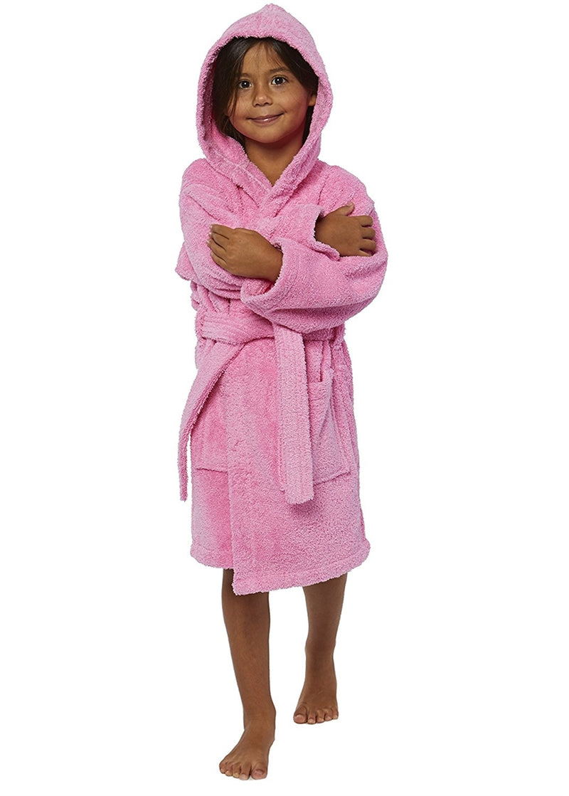 Parador Hooded Terry Kids Bath Robe - Pink
