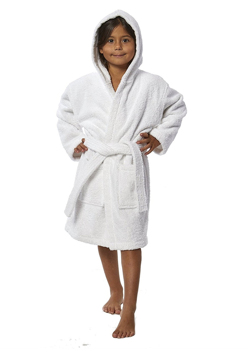 Parador Hooded Terry Kids Bath Robe - White