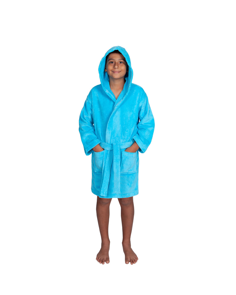 Parador® Kids Turkish Terry Velour Hooded, 100% Cotton, Monogrammed and Personalized Beach or Pool Cover Up for Boys