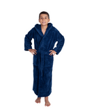 Parador® Kids Personalized, Fleece Plush, 300 GSM, Soft and Warm Hooded Bathrobe | Made in Turkey, Monogrammed for Girls and Boys