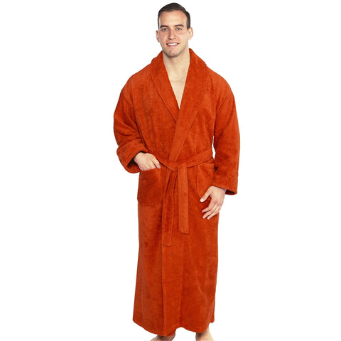 Shawl Turkish Robe - Rust