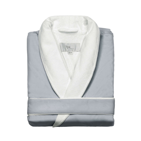 SPA Robe Personalized Luxury for Weddings, Anniversary, Graduations - 80% Cotton Terry / 20% Microfiber Polyester Exterior
