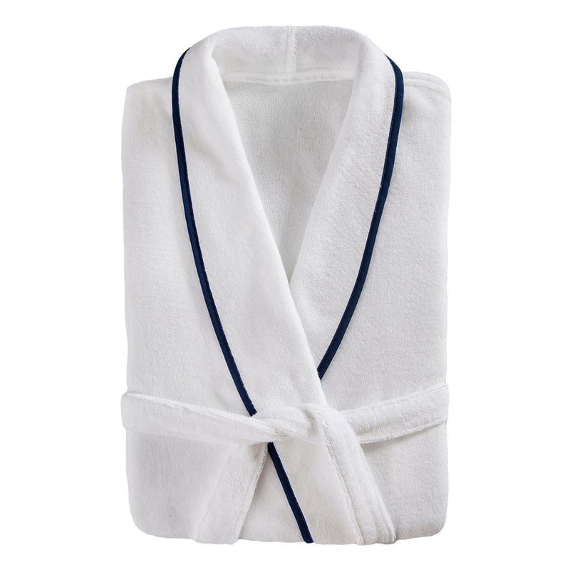 Turkish Plush Robe with Piping, 100% Cotton, Cotton Gift for Couples, Personalized and Monogrammed Robe | Made in Turkey, Birthday Gift