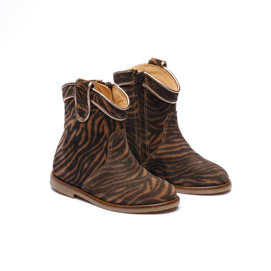 Zebra Ankle Boots D382/10