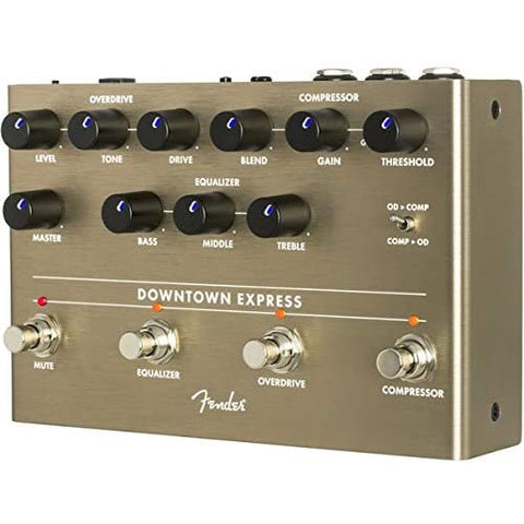 Image of Fender Downtown Express Electric Bass Guitar Multi Effect Pedal