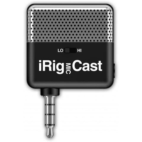 IK Multimedia iRig Mic Cast with Stereo Mini-Jack Headphone Output, Podcasting Mic for iPhone/iPod Touch/iPad/Android Devices