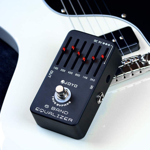 Image of JOYO 6-Band EQ Pedal Electric Guitar Equalizer (100Hz 200Hz 400Hz 800Hz 1.6kHz 3.2kHz) Provides ±18dB for Each Band (JF-11)