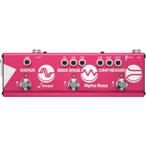 Donner Mini Effect Chain Alpha BASS Guitar Effect Pedal Compressor Bass Drive Chorus Effect Pedal